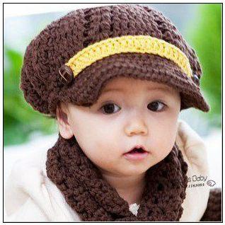 Angel's Baby #J2610-2 Infant Handmade Knitting Newsboy Baby Hat Unisex Crochet Skull Cap Children Accessories Caps for Chlid(China (Mainland))