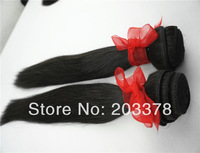 "New Brazilian VIRGIN remy human hair extensions machine weft straight 2pcs/lot DHL free shipping 14""-28' color natural"