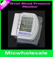 Portable Digital LCD Wrist Cuff Arm Blood Pressure Monitor Heart Beat Meter Machine  Prevent Hypertension