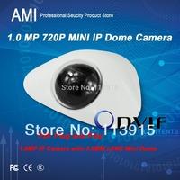 Free Shipment ONVIF 1280*720P 720pHD 1.0MP Mini Dome IP Camera P2P Plug Play  HD IP plastic dome  camera IPC3F29P