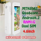 High Quailty And Cheap 5.0 inch Android4.2 MTK6582 Xiaomi Quad Core T331 Dual Sim Cards 4GB Rom 8MP Dual Camera Gift Provide(China (Mainland))