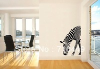 [Stay With You]Zebra vinyl quote wall decal, removable pvc meaning wall stickers free shipping