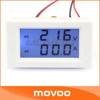 AC100-300V/50A Voltage Current Measure Gauge 2in1 Volt Amp Panel Meter + Current Transformers #100101