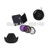 58mm UV+CPL+FLD Lens Filter+lens cap+len hood for canon 18-55mm 55-250mm 75-300mm 70-300mm  free shipping