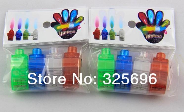 4 pcs/lot Led finger lamp, LED finger lights, Laser Finger, Show Party Decoration Free shipping !!!(China (Mainland))
