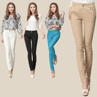 2014 Summer Women Casual Pants Slim Lace Pants White Trousers Feet Slim Capris Elastic Trousers Women, Skinny Pencil Pants Women