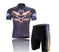 NEW!Black men's short sleeves bicycle wear bike clothing cycling jersey+(bid) shorts Wholesale CJ010