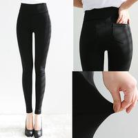 3 size fashion slim candy tight color skinny pencil pants elastic waist pants with pocket high waist harem pants