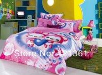 new 2014 100% cotton cartoon duvet cover sheet pillowcases luxury kid gift  king queen Reactive printing  mickey bedding set