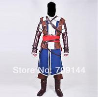 Assassin's Creed IV Black Flag Edward Kenway Cosplay Costume  XXS-6XL
