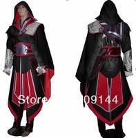 Assassins Creed Ezio Auditore Cosplay Costume  XXS-6XL