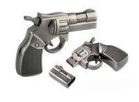Metal USB flash drive Full capacity 4GB 8GB 16GB 32GB 512G Revolver Shape Gun Model Pen Drive Free Shipping  Green