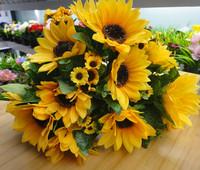 Artificial flower sunflower plastic silk flower artificial flower