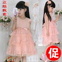 2014 one-piece dress flower girls princess dress  dance performance wear tulle dress dance dress
