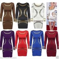 hot star models in Europe and America OL gold / white printing Slim dress pencil skirt 5 yards,Evening Elegant Dress,Party dress