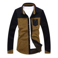 2014 spring men's long-sleeved shirt Slim Korean men's elastic shirt tide brand men's shirts