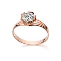 Iralina rigant Fashion design flower/rose Shinning jewelry/zircon 18KRGP gold plated women rings WL0636