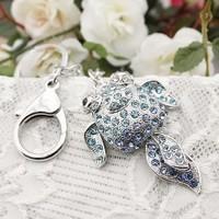 Rhinestone keychain metal keychain