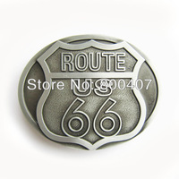 Distribute Vintage Original Route US 66 Motorcycle Chain Ride Driver Biker Belt Buckle BUCKLE-AT069AS Free Shipping