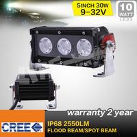 FREE SHIPPING !  5 INCH 30W CREE LED LIGHT BAR LED DRIVING LIGHT FLOOD FOR OFF ROAD 4x4 ATV UTV USE SAVED ON 36W/72W