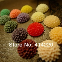 Free Shipping Wholesale 14mm Beautiful Colorful Flatback  Daisy Flower Resin Cabochon  by 100pcs/lot