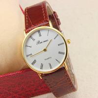 8 colors New Arrival Fashion Watch PU Leather Men Watch Bei nuo Men Quartz watches 1piece/lot