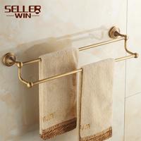 Copper fashion antique rustic towel rack towel rack towel bar double-pole 2102