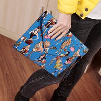 Hot-selling 2014 female fashion vintage print envelope portable multifunctional small bag