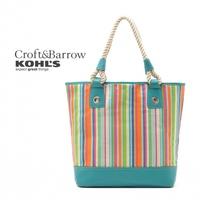 2014 USA brand Shopping Bag canvas striped handbag for women  women messenger bags large capacity