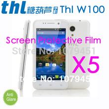 Free Shipping Original THL W100 MT6589 Quad-Core phone film,Matte Anti-glare Mobile Phone THL w100 Screen Protective Film