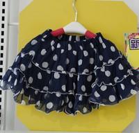 Children skirts  girls network yarn dot skirt