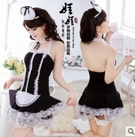 2014 new Sexy temptation female set maid service game uniforms short skirt temptation dress Sexy maid costume Adult sexy toys