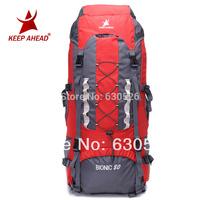 keepahead 1874 Professional Waterproof Rucksack Internal Frame 5colours Climbing Camping Hiking Backpack Mountaineering Bag 80L