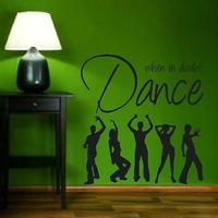 Dance Quote Vinly Wall Sticker Art Mural Wall Poster Paper Home Decor