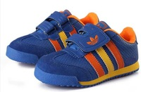 2014 hot sales!  Free shipping! new arrival leather colorful sport  boys girls children shoes sneakers