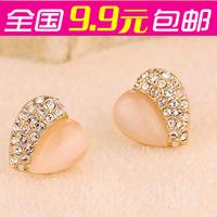Accessories love heart - eye stud earring