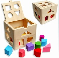 1 - 3 years old intellectual box wooden shape wisdom box