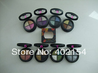 (4pcs/lot ) New Brand Cosmetic Makeup Eye shadow 4 colour in one 10G MAQ Eyeshadow make up Free shipping