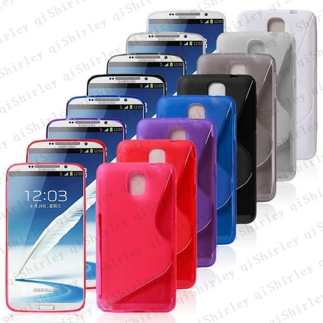 Buy1get 2!High Quality low price,100PCS Soft TPU Gel S line Skin Case for Samsung Galaxy Note3 N9000,Free 100pcs film+100pcs pen(China (Mainland))
