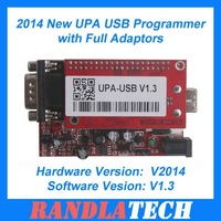 Good Quality 2014 New UPA USB Programmer with Full Adaptors Softwsare Version V1.3 Free Shipping By DHL