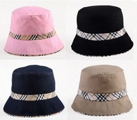 New Checker Bucket Safari Soft Cotton Fishing Cap Hat -Many Colors
