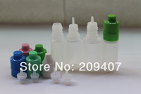 Wholesale Free Shipping -- NEW TYPES 10ml PE 2500Pcs tamper evident cap with childproof lock bottle by FedEx. E-cigarette