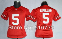 Free Shipping Womens NCAA Ohio State Buckeyes Braxton Miller #5 red College Football Limited Jerseys Size S M L XL can mix order