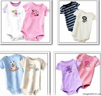 Hot 1 pcs Summer short-sleeve toddler's cotton Jumpsuits Carter's Baby Suit Carters Rompers Boy Girl design multicolour