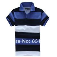 2014 Hot selling t shirt men fashion casual shirt short sleeve men's t shirts brand stripe tom free shipping wholesale