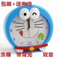 Doraemon kt cat child alarm clock lazy alarm clock cartoon pig mute