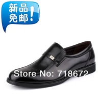 2014 new men, the first layer of leather, casual, dress, gentleman, flat shoes, men genuine leather shoes, free shipping