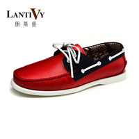 Lantivy classic first layer of cowhide sailing fashionable casual shoes l13b004a