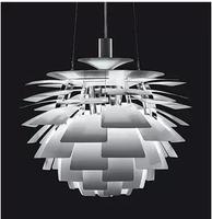 Free Shipping Hot Selling Wholesale Louis Poulsen PH Artichoke Lamp White Denmark Modern Suspension Pendant Light Repllica