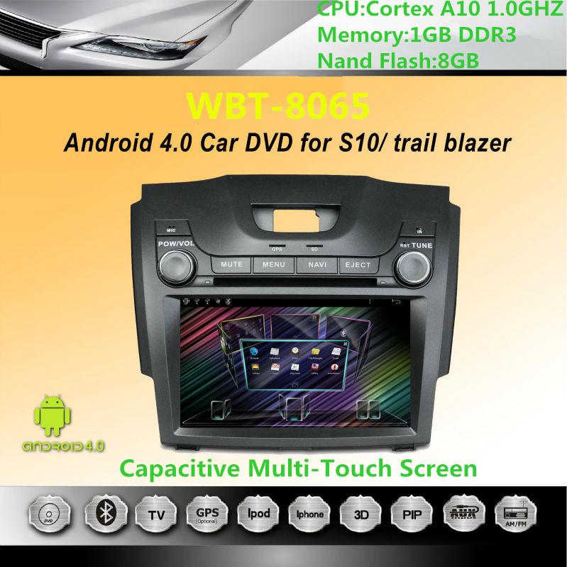 "Hot Sale 8"" Car Autoradio Android DVD For Chevrolet S10/ Trail Blazer with 3G WIFI GPS Bluetooth RDS Radio USB SD Headunit Audio(China (Mainland))"